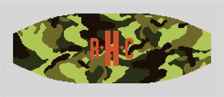 Colorful Camo Cummerbund Needlepoint Canvas