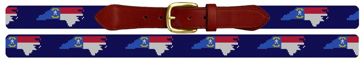 North Carolina State Needlepoint Belt