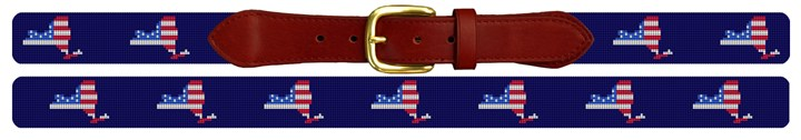 New York State Needlepoint Belt