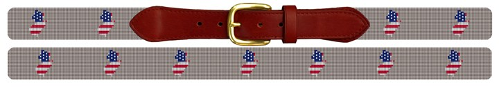 New Jersey State Needlepoint Belt