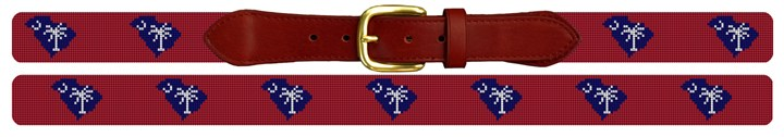 South Carolina State Needlepoint Belt
