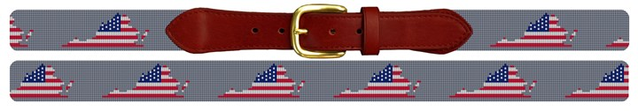 Virginia State Needlepoint Belt