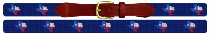 Texas State Needlepoint Belt