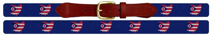 Ohio State Needlepoint Belt