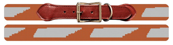 Tennessee State Needlepoint Dog Collar