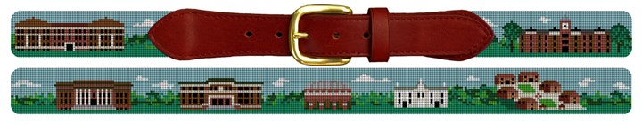 Clemson University Campus Needlepoint Belt