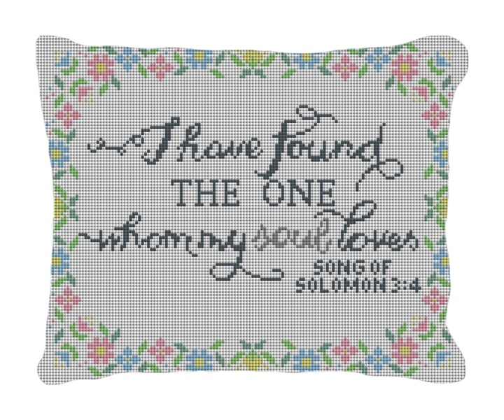 Song of Solomon Wedding Needlepoint Pillow