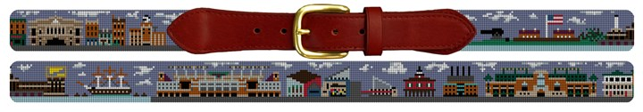 Baltimore Landscape Needlepoint Belt