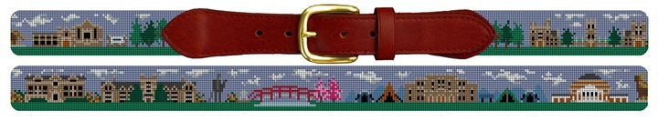 Durham NC Needlepoint Belt