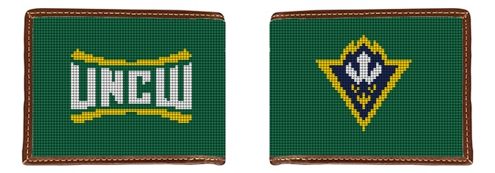 UNC Wilmington Needlepoint Wallet