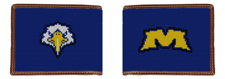 Morehead State University Needlepoint Wallet