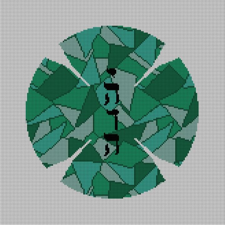 Mosaic Yarmulke Needlepoint Canvas