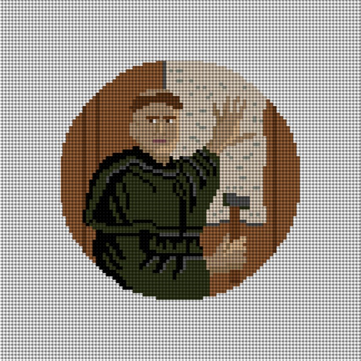 Martin Luther Needlepoint Ornament Canvas
