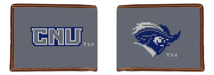 Christopher Newport University Needlepoint Wallet