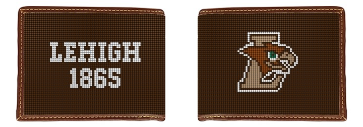 Lehigh University Hawk Needlepoint Wallet
