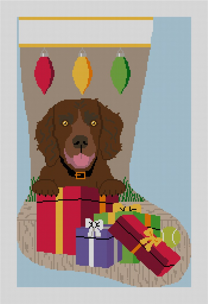 Boykin Spaniel Stocking Needlepoint Canvas