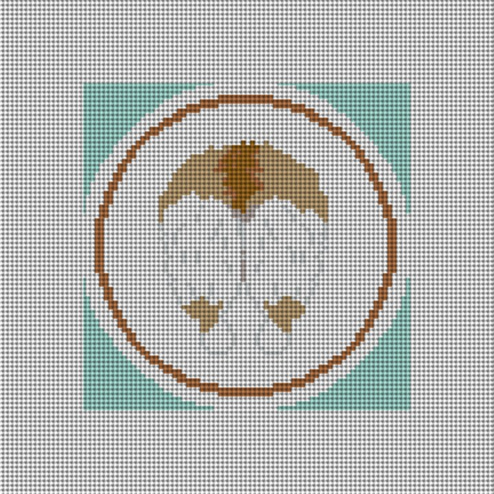 Light Brown Corgi Backside Needlepoint Canvas