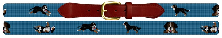 Bernese Mountain Dog Needlepoint Belt Canvas
