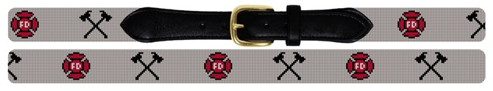 Firefighters Needlepoint Belt