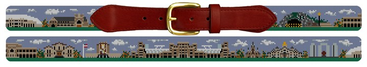 South Bend Campus Landscape Needlepoint Belt