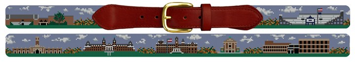 Worcester Mass Campus Needlepoint Belt