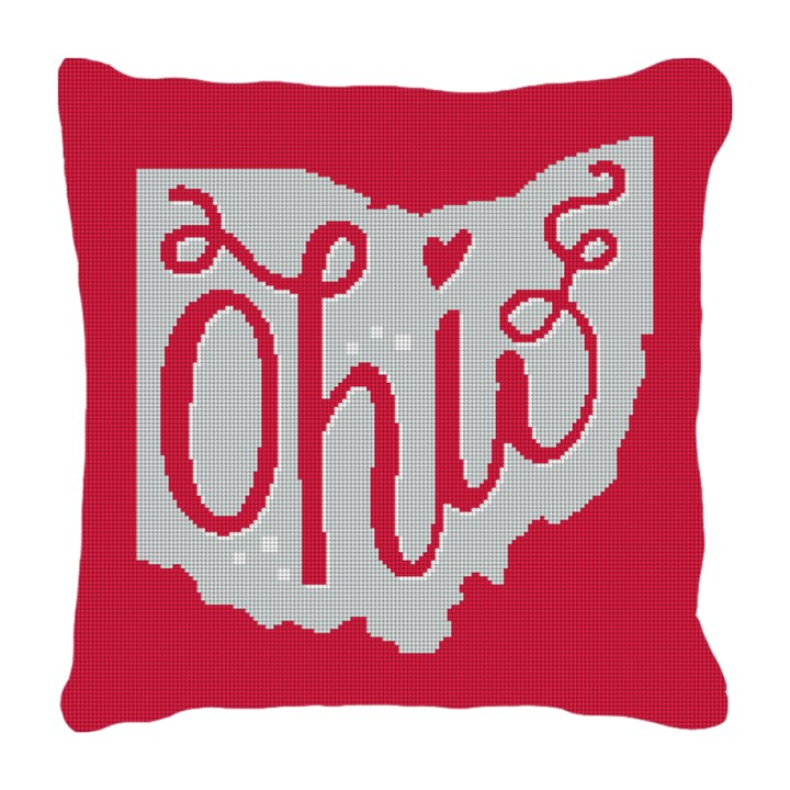 Ohio Needlepoint Pillow