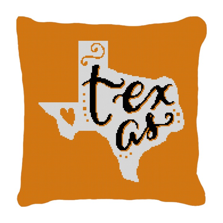 Texas Black and Gold Needlepoint Pillow