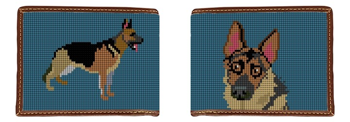German Shepherd Needlepoint Wallet