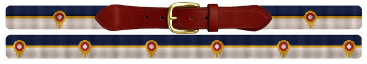 Tulsa Oklahoma Flag Needlepoint Belt