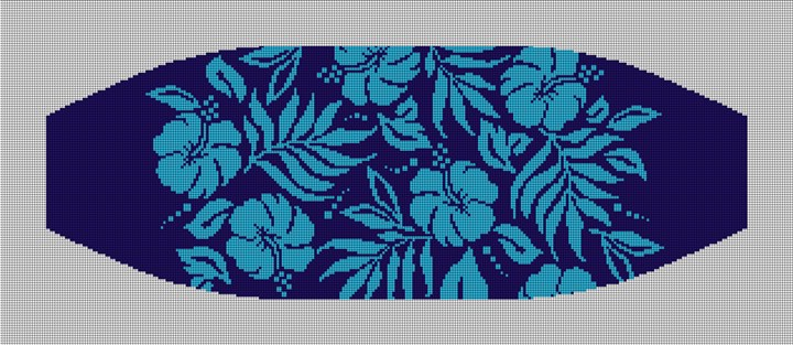 Hawaiian Wedding Cummerbund Needlepoint Canvas