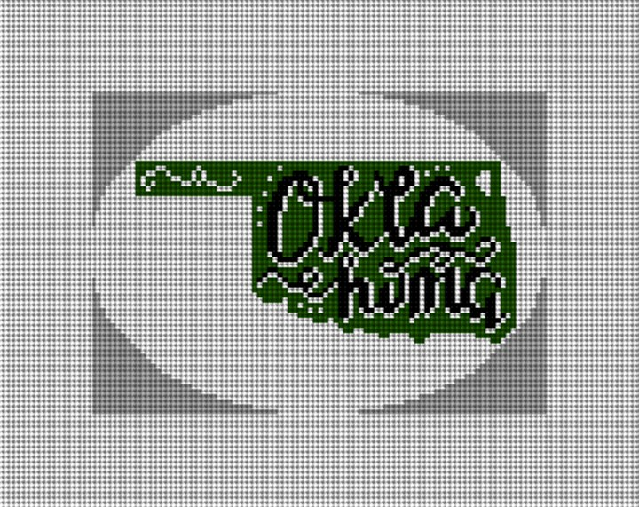 Oklahoma Needlepoint Christmas Ornament Canvas
