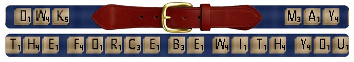 Custom Classic Word Game Needlepoint Belt
