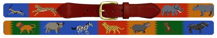 Safari Adventure Needlepoint Belt