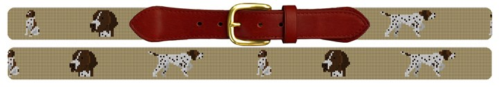 Pointer Needlepoint Belt