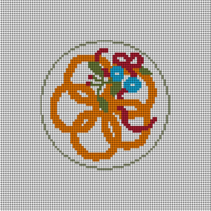 Day Five Christmas Ornament Needlepoint Canvas