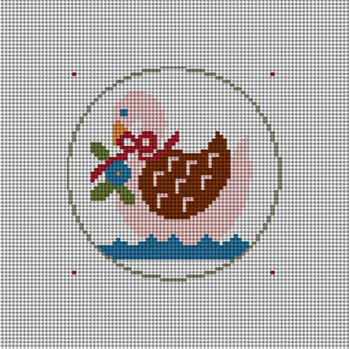 Day Seven Christmas Ornament Needlepoint Canvas
