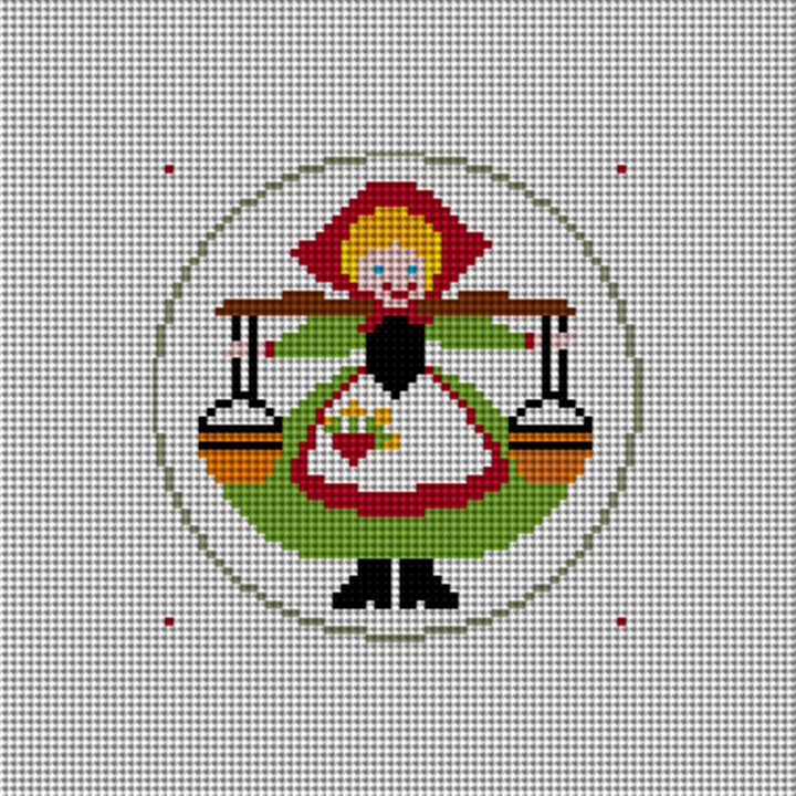 Day Eight Christmas Ornament Needlepoint Canvas
