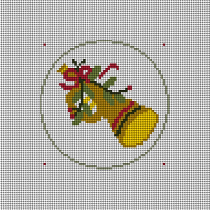 Day Eleven Christmas Ornament Needlepoint Canvas