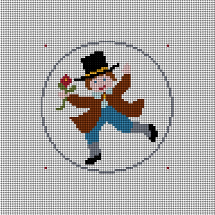Day Ten Christmas Ornament Needlepoint Canvas