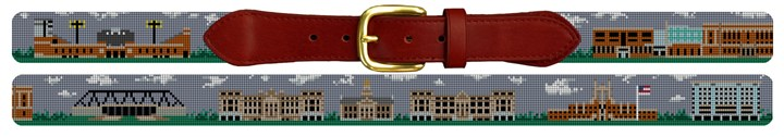 Iowa City Landscape Needlepoint Belt