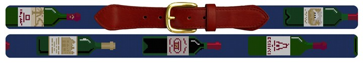 Grand Vins Wine Needlepoint Belt