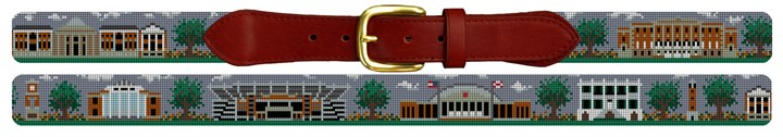 Tuscaloosa Alabama Landscape Needlepoint Belt