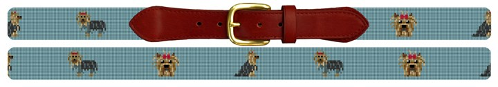 Yorkshire Terrier Needlepoint Belt