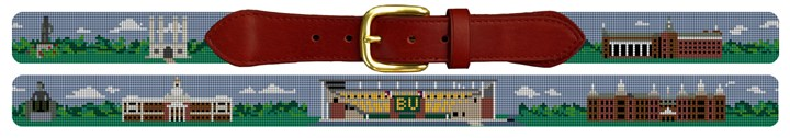 Waco Texas Landscape Needlepoint Belt