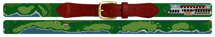 Pebble Beach Golf Course Needlepoint Belt