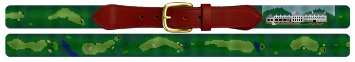 Salem Country Club Golf Course Needlepoint Belt