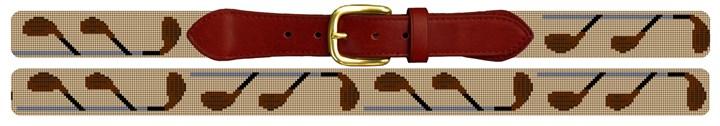 Fairway Woods Needlepoint Belt