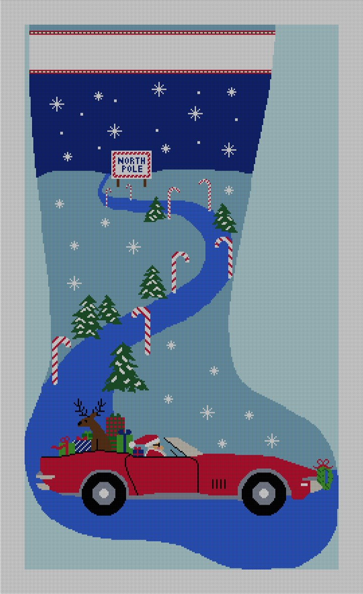 Christmas Delivery Stocking Needlepoint Canvas