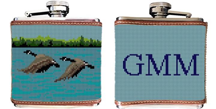 Canada Goose Needlepoint Flask Canvas
