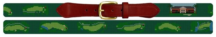 Green Island Golf Course Needlepoint Belt